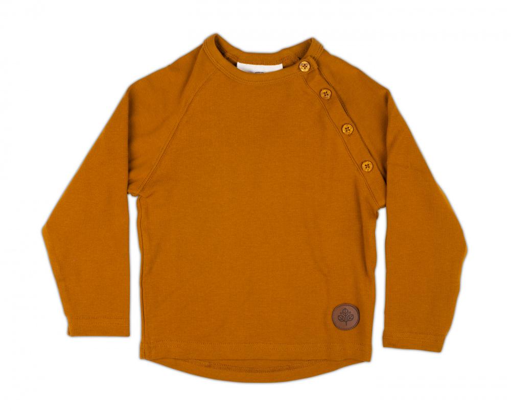 Gullkorn design, Villvette genser sennepsbrun Barneklær og