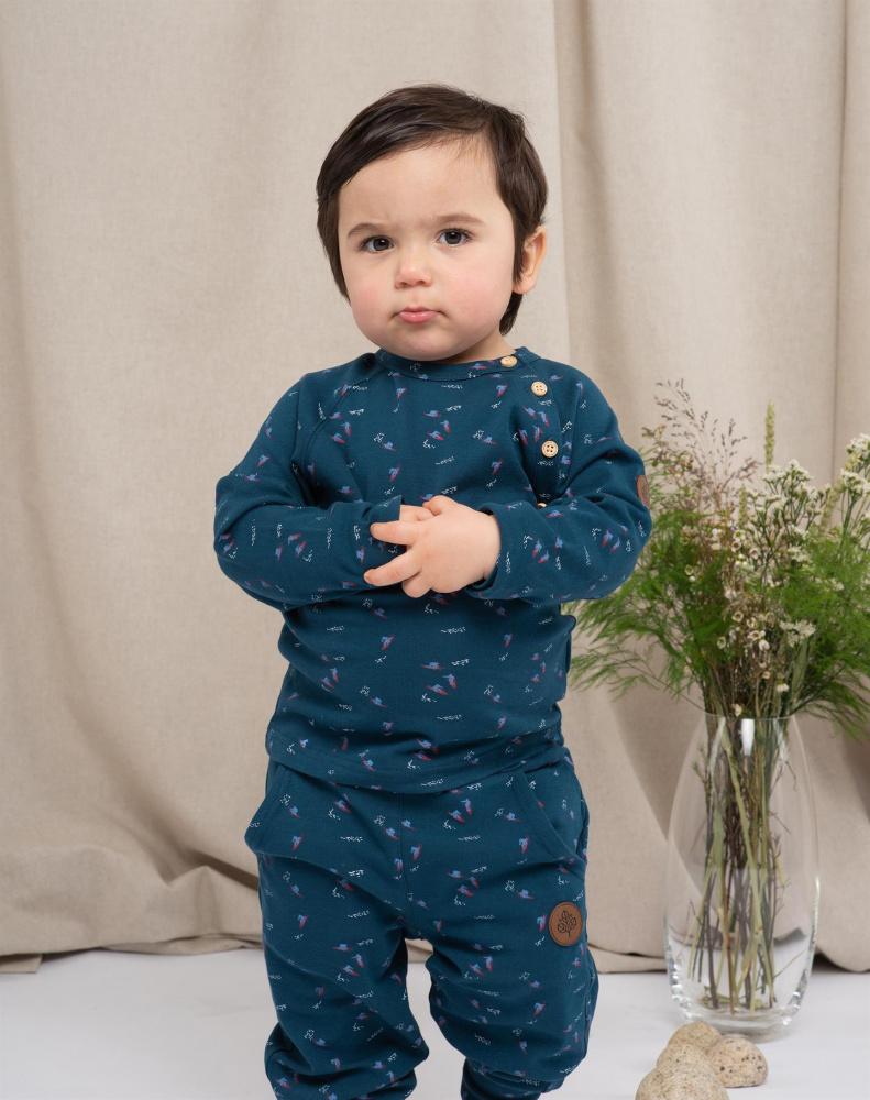 Gullkorn design, Villvette bukse dyp blå Barneklær og