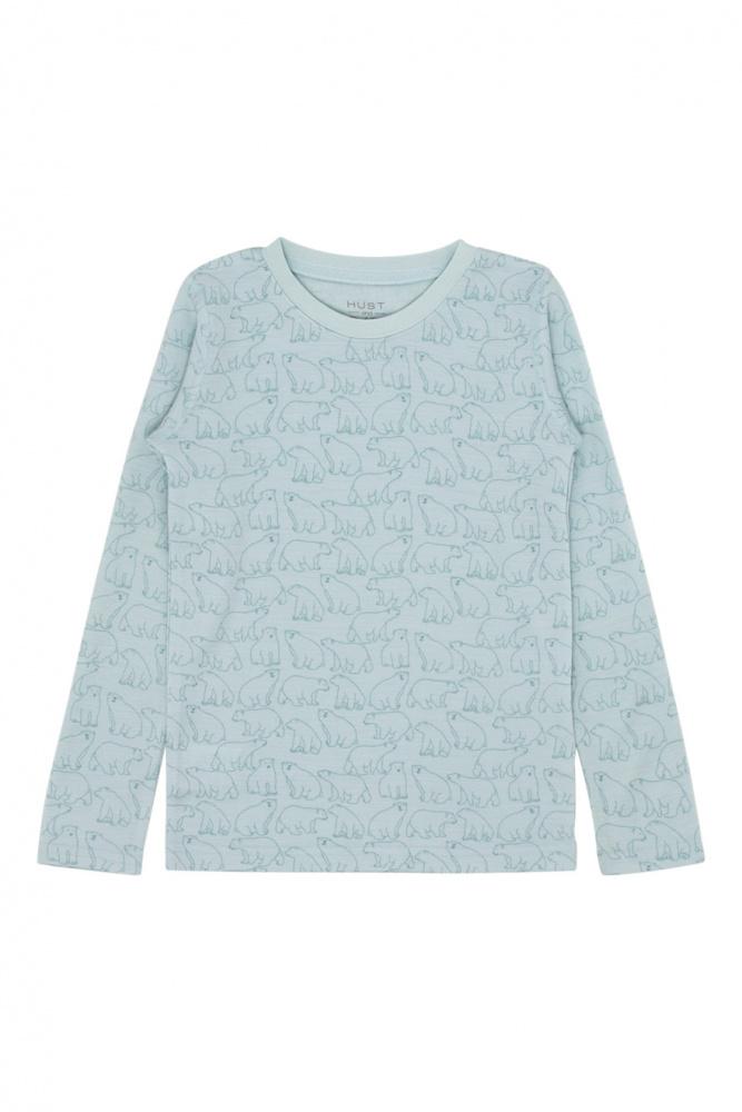 b6ad50e1 Hust & Claire, Awo merinoull genser isbjørn milky mint - Barneklær - Sam &  Sofie