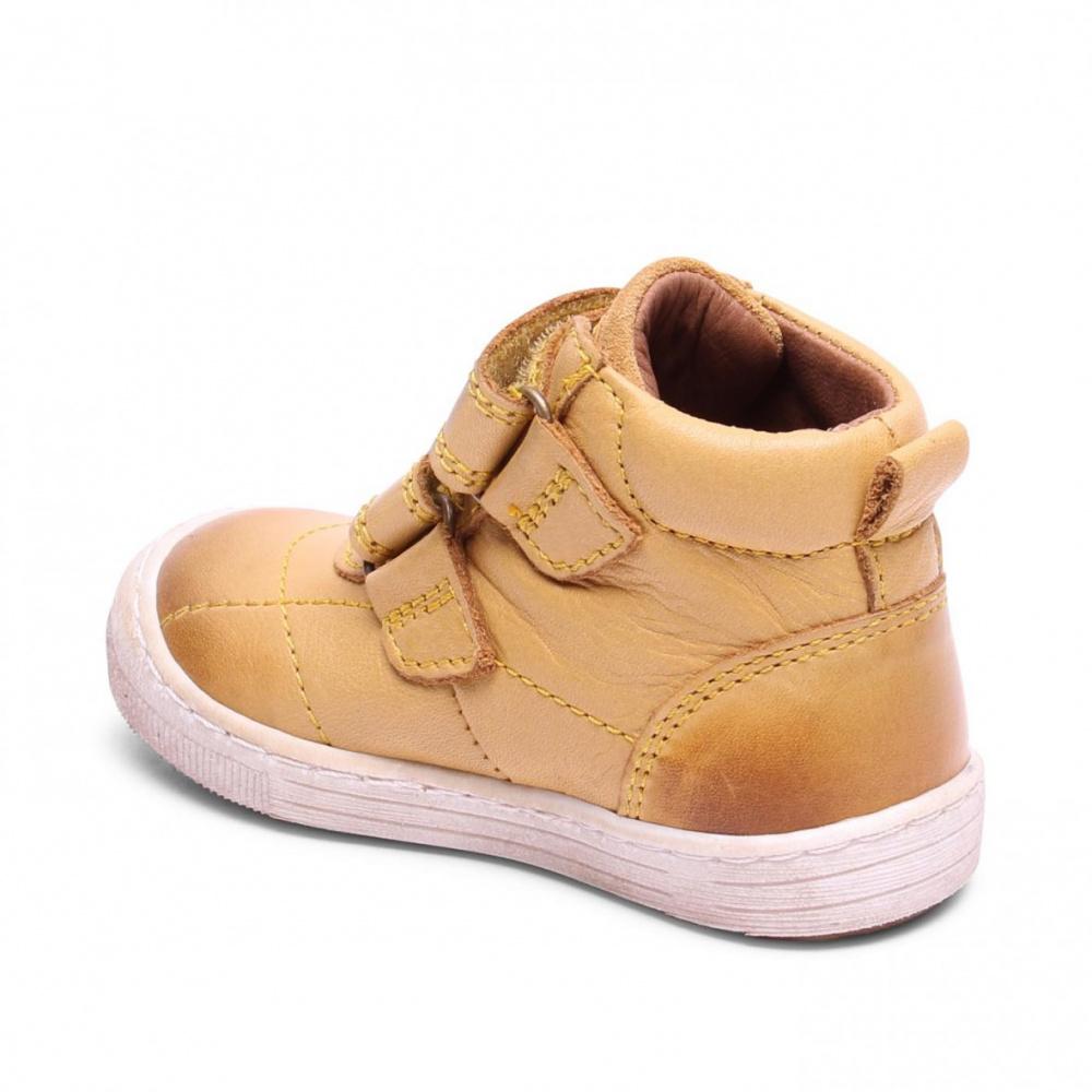 45a064dd Bisgaard, gul skinnsko sko med velcrolukning , 40325 - Barneklær ...